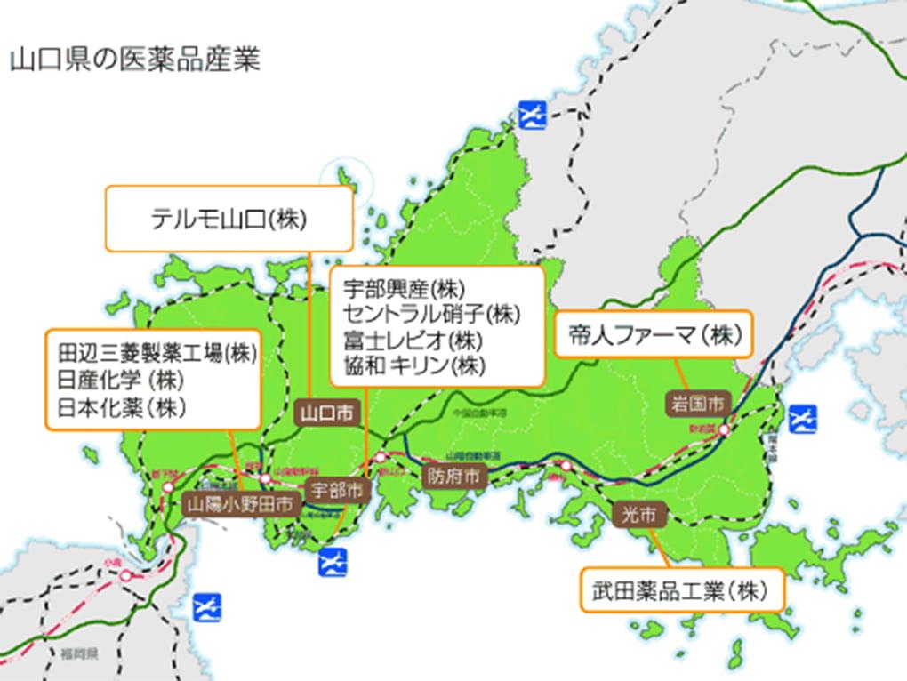 山口県の医療品産業