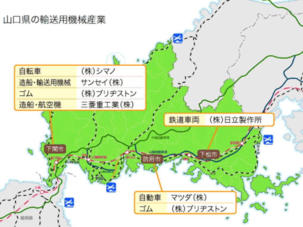 山口県の輸送用機械産業