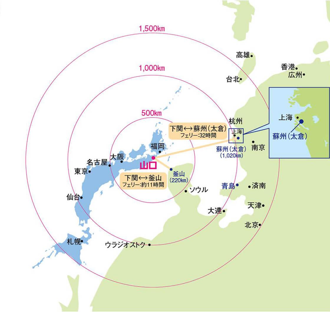 東アジアのゲートウェイ地理的優位性